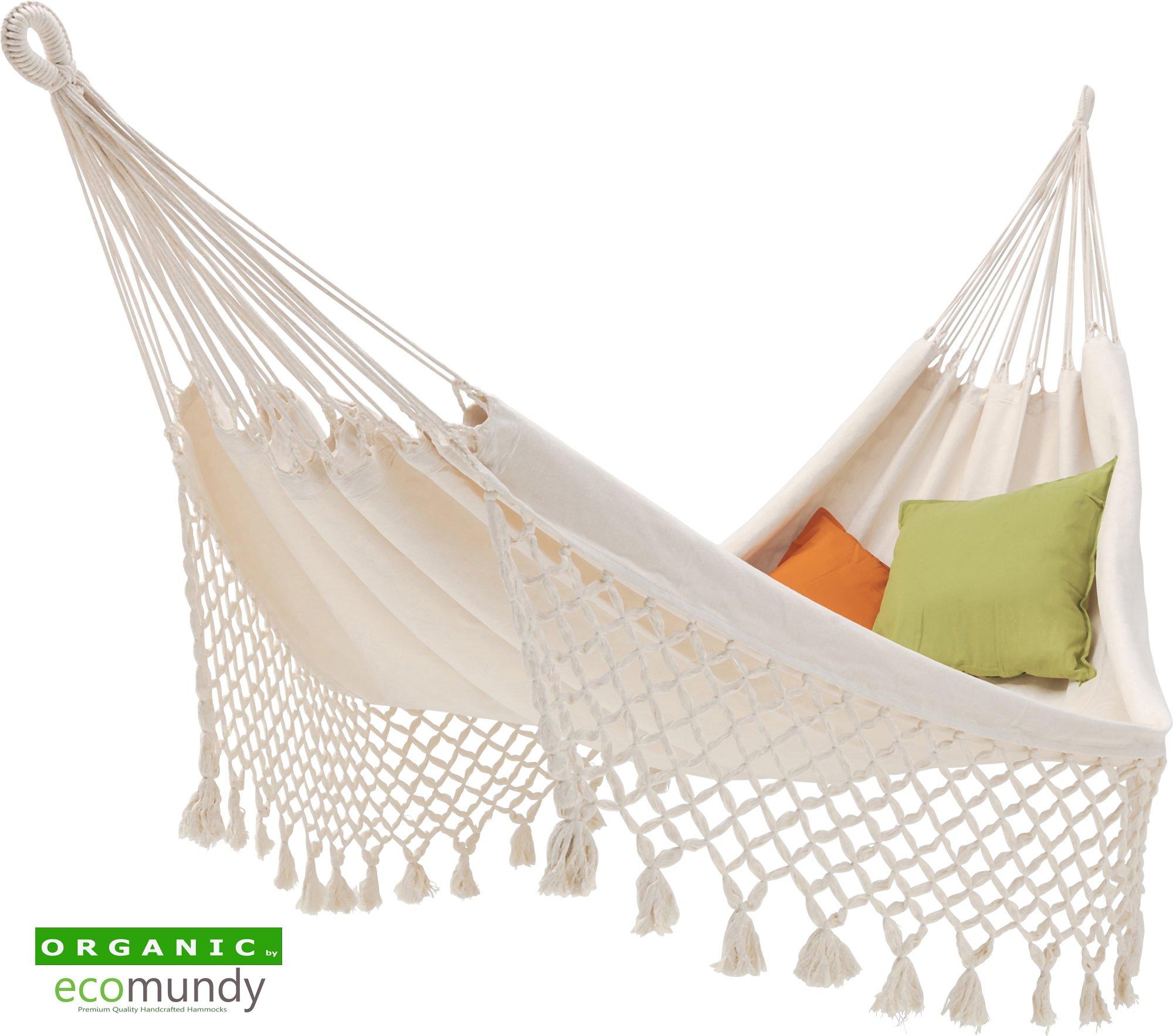 classic cotton hammock with fringe   organic cotton e undy romance hammock e undy romance xl  u2013 natural white  u2013 organic cotton  u2013 gots  rh   e undy