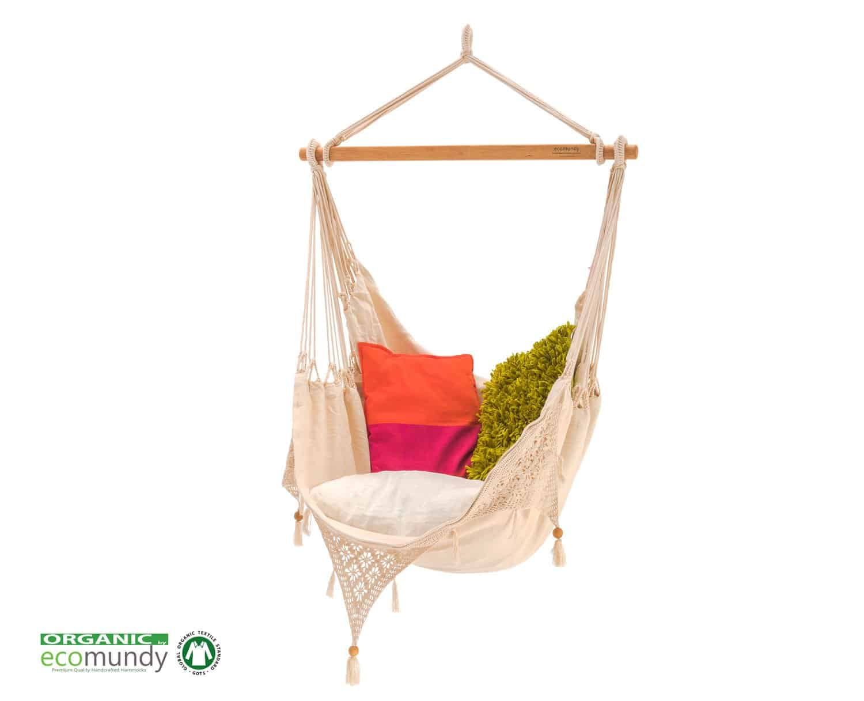 Hammock Chair Ecomundy Ibiza Natural White Organic